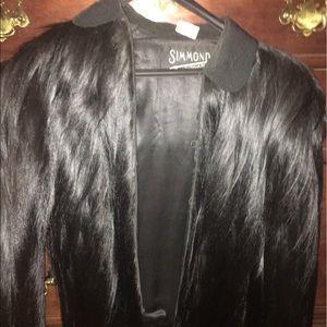 Monkey fur Simmons fur jacket